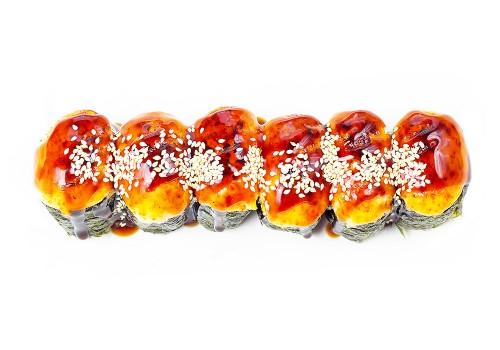 Запеченные гунканы с лососем